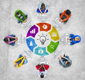 People Social Networking and Creativity Concepts Royalty Free Stock Photo