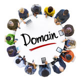People Social Networking and Domain Concept.  stock photography