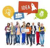 People Social Networking an Idea Concepts Royalty Free Stock Photos