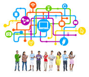 People Social Networking and Internet Concepts Stock Image