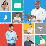 People Social Networking and Related Concepts.  Stock Photos