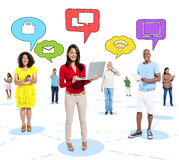 People Social Networking and Related Concepts Royalty Free Stock Photo
