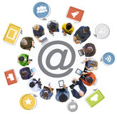 People Social Networking and Related Symbols Stock Images
