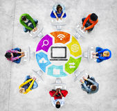 People Social Networking and Related Symbols Stock Photos