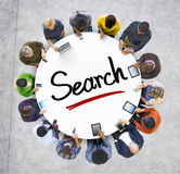 People Social Networking and Search Concept Stock Photo