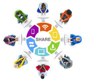 People Social Networking and Sharing Concept Stock Photo
