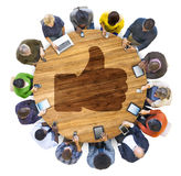 People Social Networking and Thumbs Up Symbol Stock Images