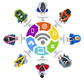 People Social Networking and WIFI Concepts Royalty Free Stock Images
