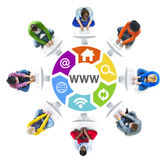 People Social Networking and WWW Concept Royalty Free Stock Photos