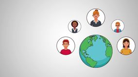 People and social networks HD animation