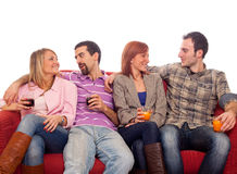 People on Sofa Stock Photography