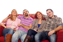People on Sofa Royalty Free Stock Photo