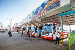 People at Sokcho bus station. Royalty Free Stock Photos