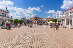 People on Sopot molo at Baltic Sea, Poland Royalty Free Stock Photo