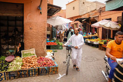 People at the Souk. Marrakesh. Morocco Stock Photo