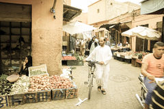 People at the Souk. Marrakesh. Morocco Royalty Free Stock Images