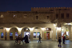 People at the Souq Waqif, Doha Royalty Free Stock Images