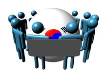 people and South Korean flag sphere Royalty Free Stock Photo