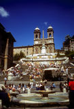 People on the Spanish Steps Royalty Free Stock Photo