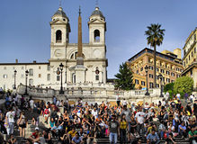 People on the spanish steps in rome italy Stock Photography