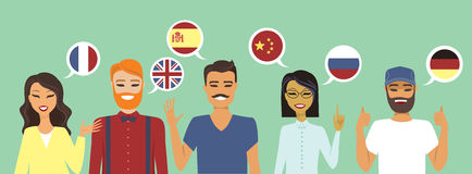 People speaking different languages Royalty Free Stock Photo