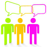 People Speaking Indicates Point Of View And Assumption. People Speaking Meaning Point Of View And Confab Chat Stock Photo