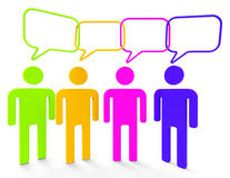 People Speaking Means Point Of View And Belief Royalty Free Stock Photo