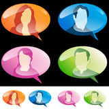 People Speech Bubbles Royalty Free Stock Images