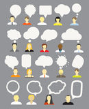 People with speech bubbles collection Stock Photo