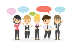 People with speech bubbles. Royalty Free Stock Photography