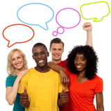 People and speech bubbles design royalty free stock photo