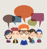 People with speech bubbles Royalty Free Stock Images