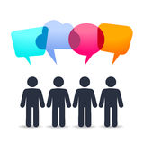 People with speech bubles stock illustration