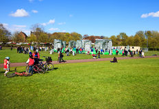 Weekend at Glasgow Green Place. Royalty Free Stock Images