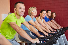 People in spinning course Stock Image
