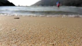 People splashing in sea waves stock footage