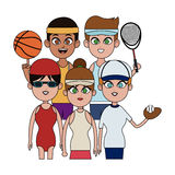 People and sports design Stock Images