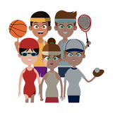 People and sports design Royalty Free Stock Photo