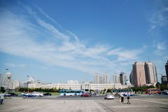 The People Square. In Dalian, China Royalty Free Stock Photo