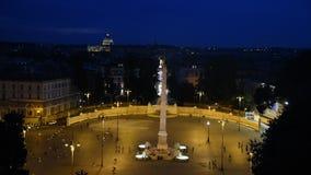 V in Rome night view stock video