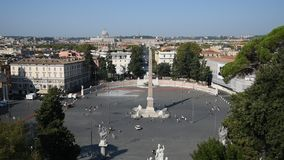 People Square and lions Square in Rome stock video