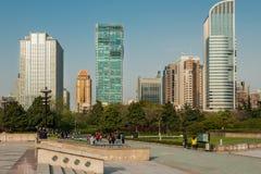 On people square shanghai china Stock Photo