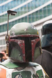 People of 501st Legion take part in the Star Wars parade in Mila Stock Photo
