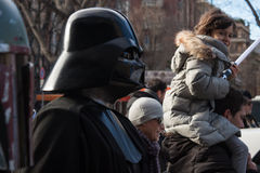 People of 501st Legion take part in the Star Wars Parade in Milan, Italy Stock Image