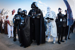 People of 501st Legion take part in the Star Wars Parade in Milan, Italy Stock Photo