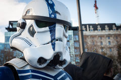 People of 501st Legion take part in the Star Wars Parade in Milan, Italy Stock Images