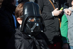People of 501st Legion take part in the Star Wars Parade in Milan, Italy Stock Photos