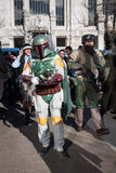 People of 501st Legion take part in the Star Wars Parade in Milan, Italy Stock Photography