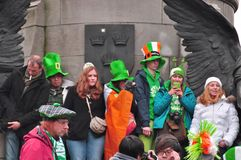 St patricks day dublin. People at the st patricks day parade in dublin ireland Royalty Free Stock Image