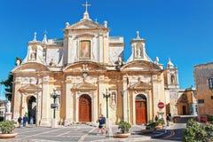 People at St Paul Church in Rabat Malta. Rabat, Malta - April 4, 2014: People at St Paul Church in Rabat, Malta Island Stock Image